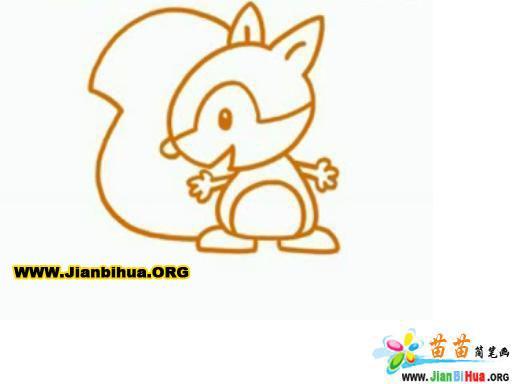 小松鼠简笔画(动物篇)6张