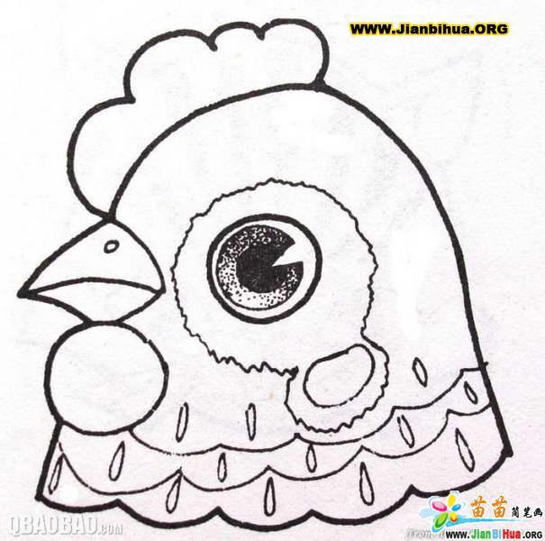 动物头像简笔画的画法15张(第4张)