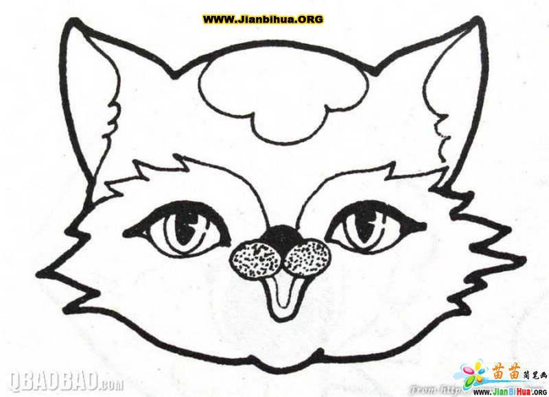 动物头像简笔画的画法15张 第3张