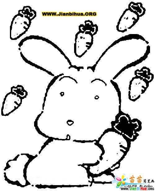 兔的简笔画图片大全5张 第2张