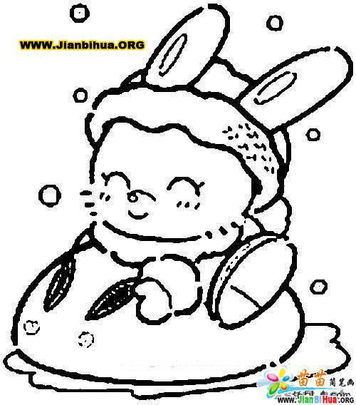 可爱动物简笔画鹭鸶11张第7张