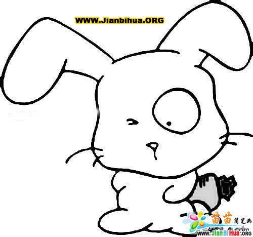 兔的简笔画图片大全5张 第3张