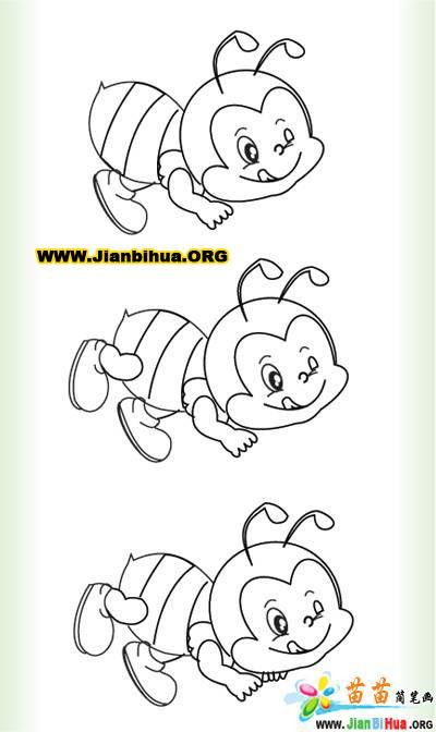 小蜜蜂简笔画图片大全
