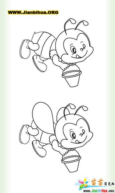 小蜜蜂简笔画图片大全 第5张