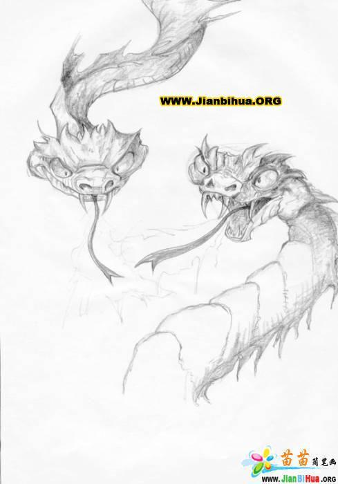 龙的简笔画画法