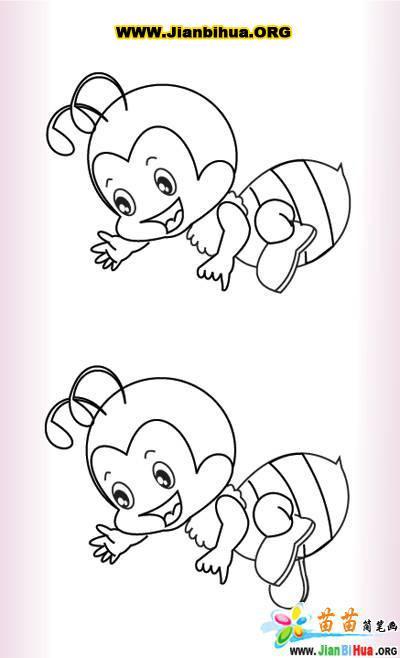 小蜜蜂简笔画图片5张(第4张)