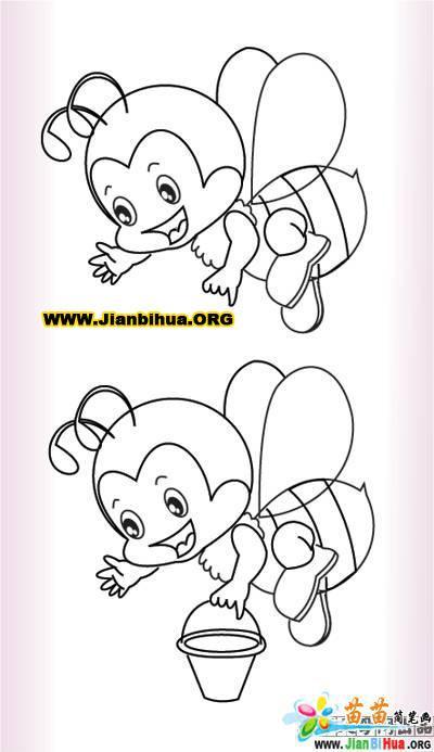 小蜜蜂简笔画图片5张 第5张