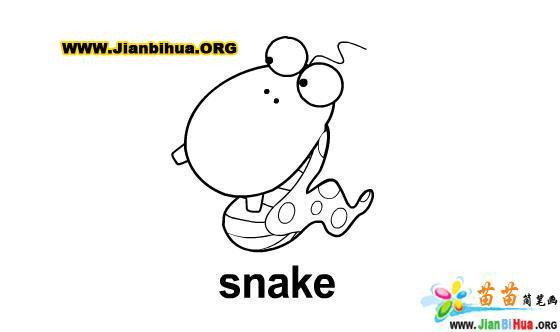 蛇的简笔画图片