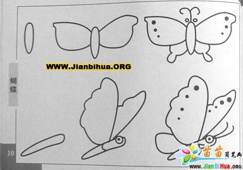蝴蝶简笔画作品欣赏