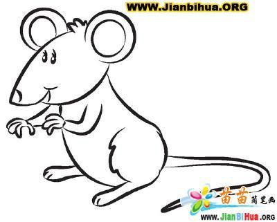 小老鼠简笔画,文房四宝指什么,可爱的小老鼠简笔画 高清图片