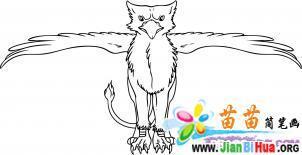 狮鹫动画简笔画参考