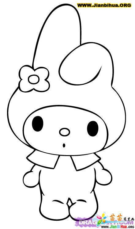 小兔子简笔画的画法4张