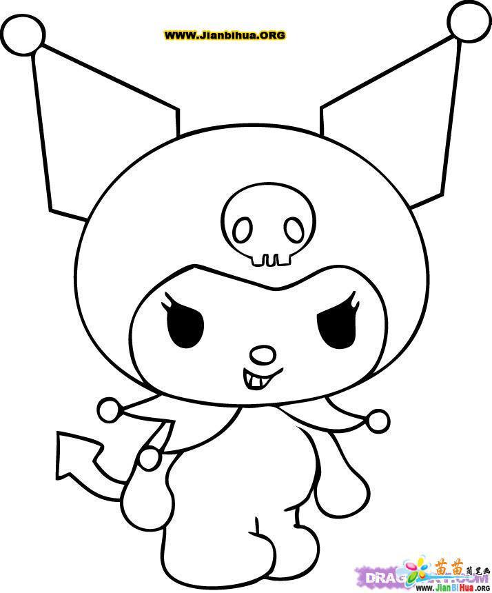 小兔子简笔画的画法4张(第2张)