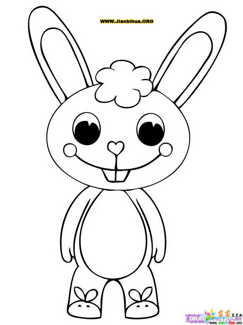 小兔子简笔画的画法4张(第4张)
