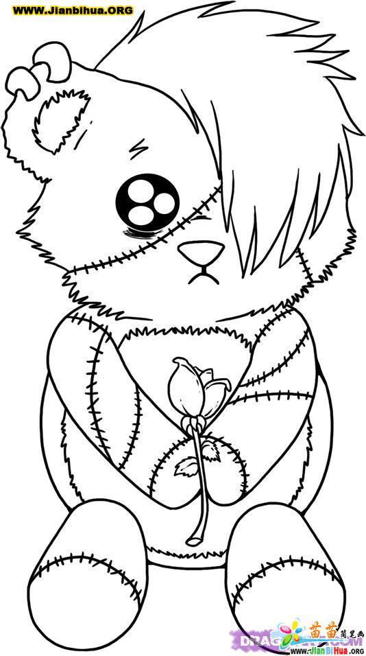可爱小熊简笔画图片12张
