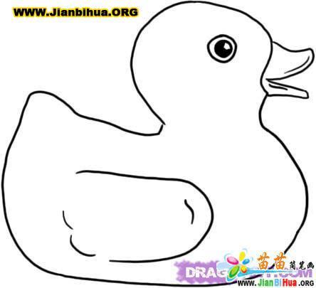 小鸭子简笔画图片6张