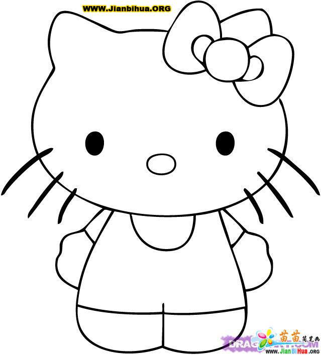 小花猫简笔画图片6张 第2张