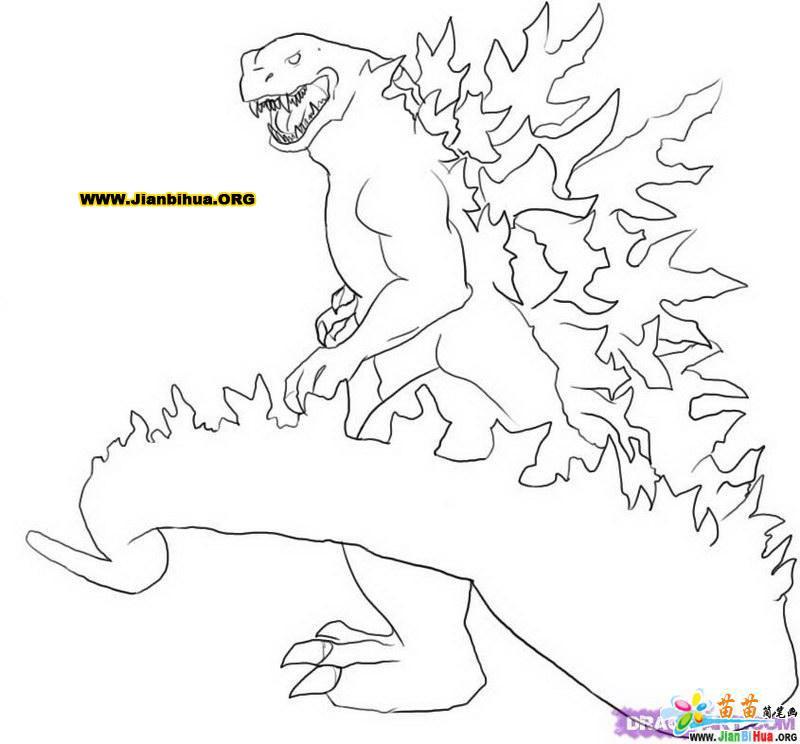 古代生物简笔画――科幻恐龙