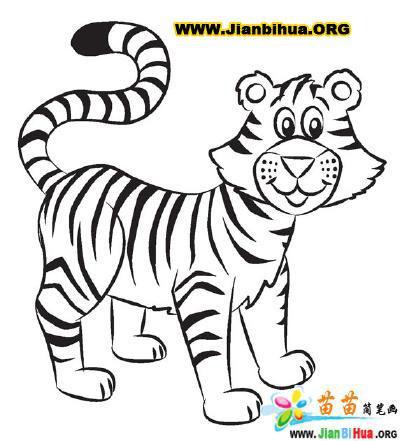 老虎简笔画的画法图片