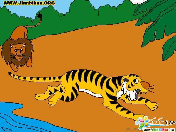 老虎简笔画的画法图片(第19张)