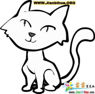 小花猫涂色卡图片12张_简笔画