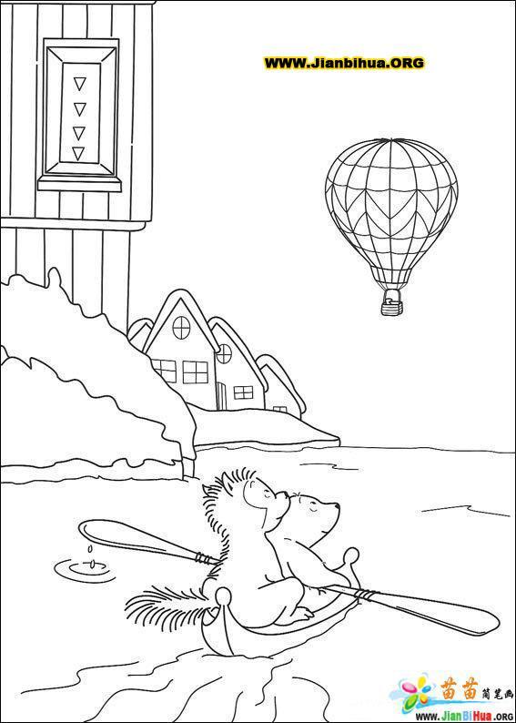 可爱北极熊简笔画图片38张