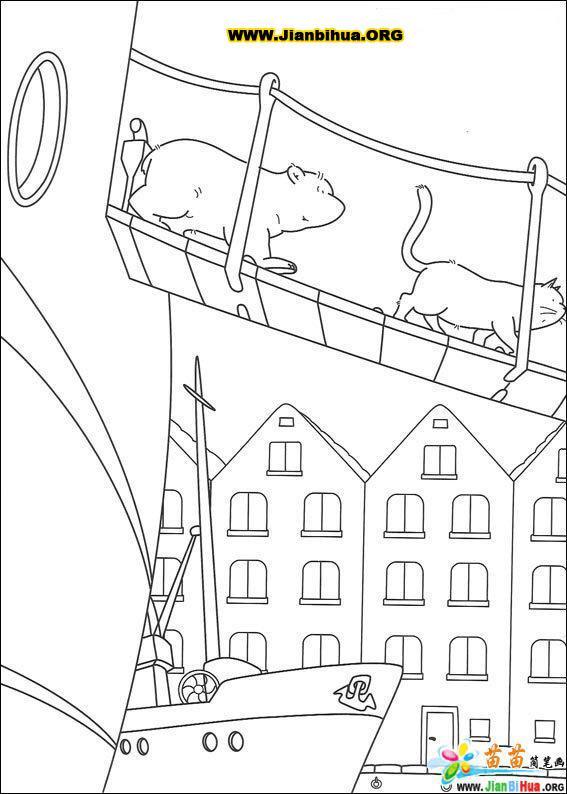可爱北极熊简笔画图片38张第5张