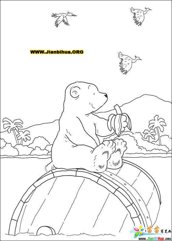 可爱北极熊简笔画图片38张-卡通动物-美歪网www