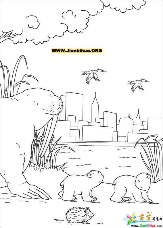 可爱北极熊简笔画图片38张第7张