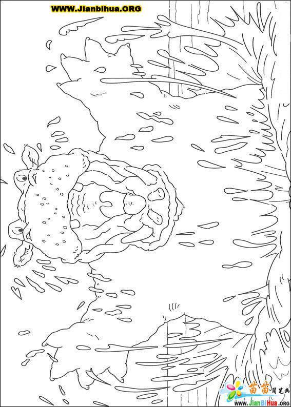 可爱北极熊简笔画图片38张(第34张)