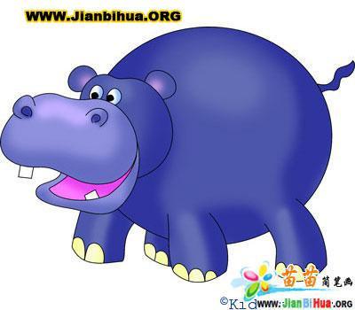 怎样教孩子画动物简笔画仔细观察又发现动物中大象的鼻子最大,刺猬的