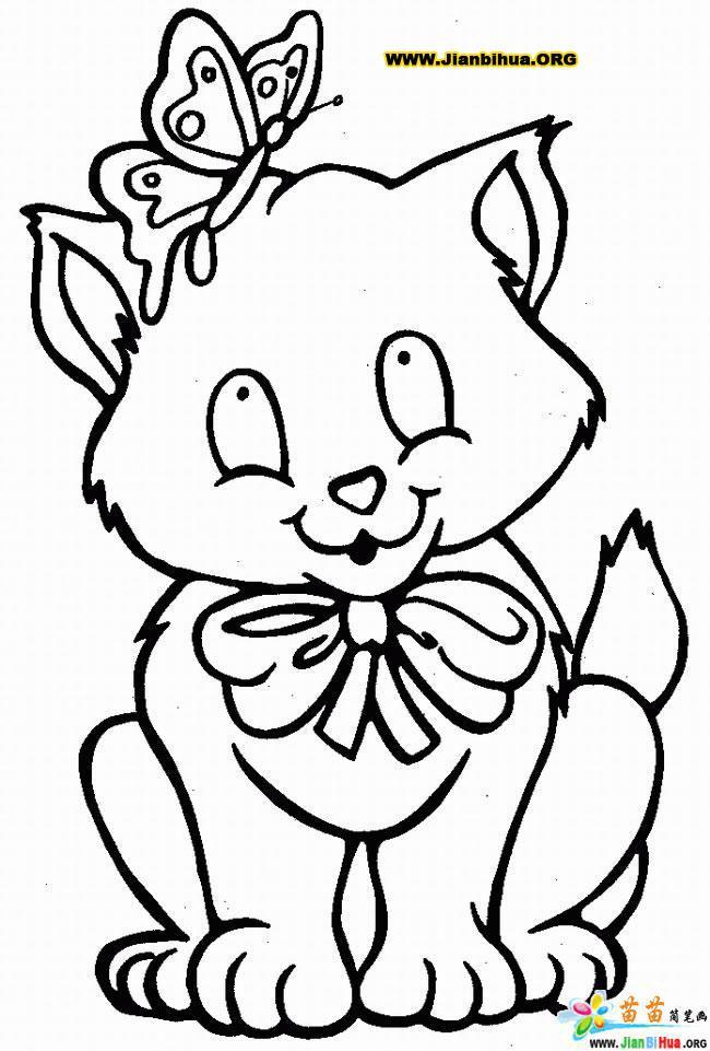猫简笔画 [7p]_动物简笔画;