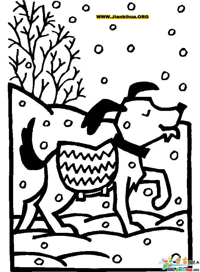 十二生肖简笔画 含6张狗