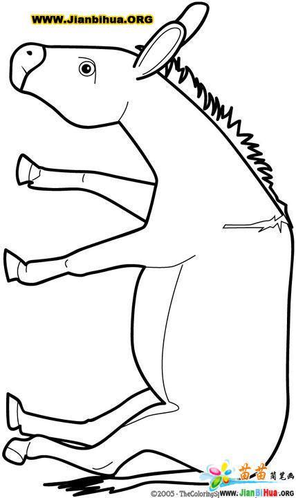 驴的简笔画3张图片(第3张)