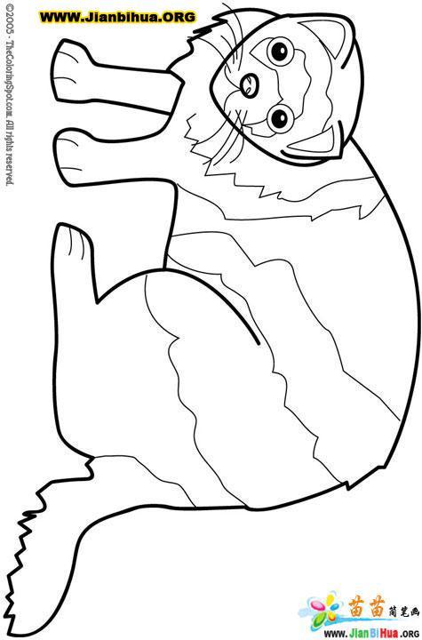 动物鼬简笔画图片