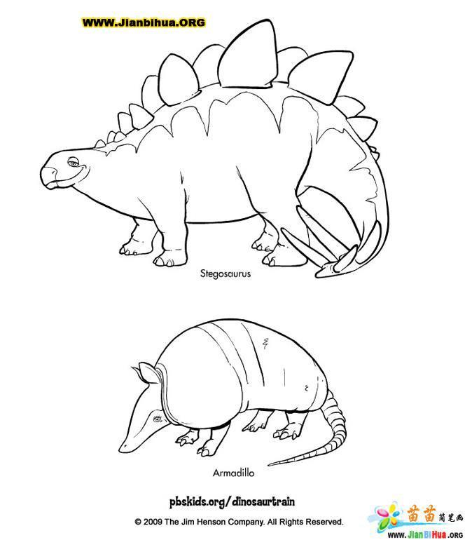 笔画的简小学彩云(10张)(第4张)图片湖恐龙图片