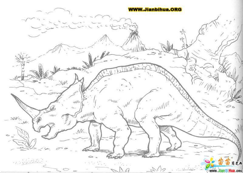 恐龙古生物简笔画(生物篇)