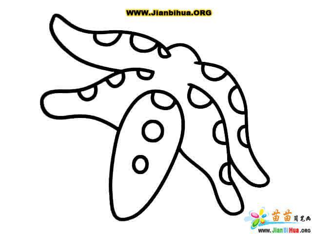 恐龙简笔画_鲨鱼简笔画_海星简笔画_骆驼简笔画图片(第3张)