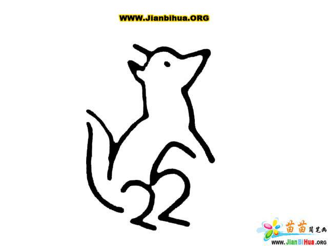 松鼠简笔画数张-卡通动物-美歪网www.meiwai.net