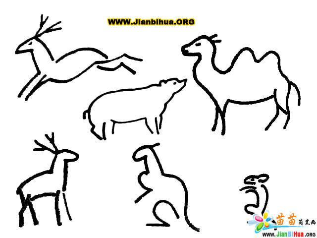 可爱动物简笔画图片