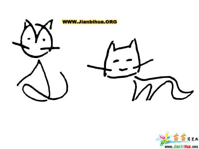 简笔画技法图谱——10张动物简笔画图片教程(第5张)