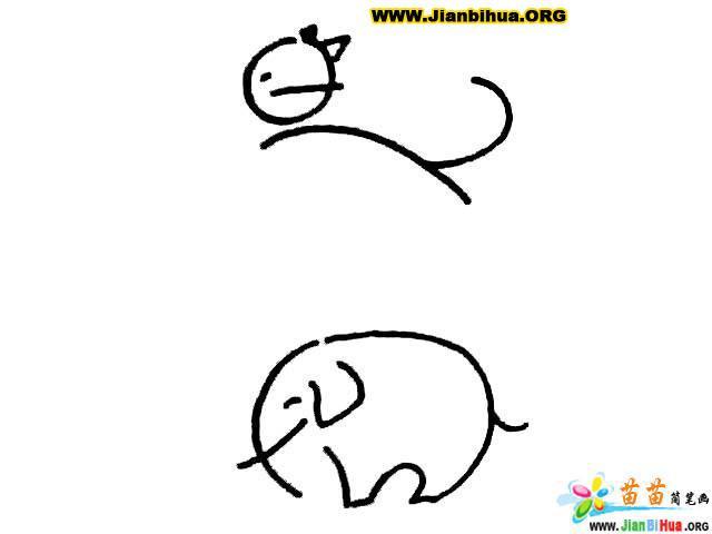 简笔画技法图谱 10张动物简笔画图片教程