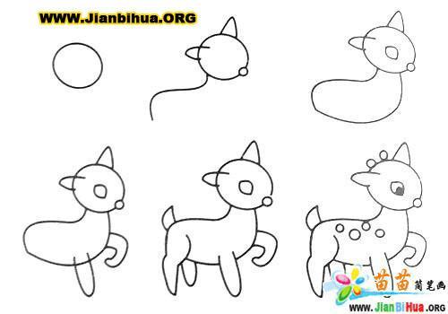 常见动物简笔画大全12张(第5张)
