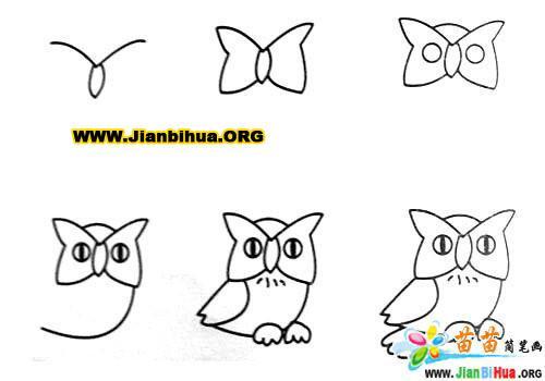 常见动物简笔画大全12张(第4张)