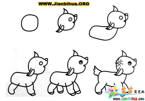 常见动物简笔画大全12张(第9张)