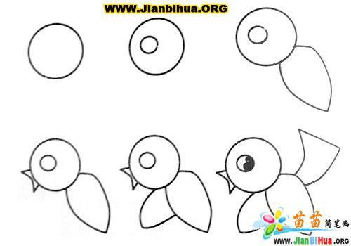 常见动物简笔画大全12张(第8张)