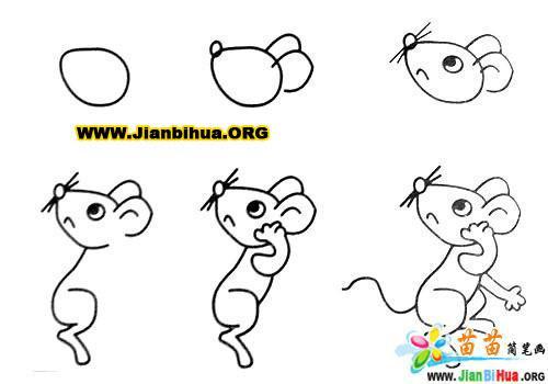 常见动物简笔画大全12张(第7张)