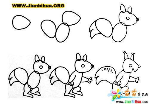 常见动物简笔画大全12张(第10张)