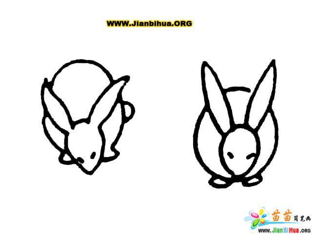 兔子简笔画_鹿简笔画_马简笔画_袋鼠简笔画11张第3张