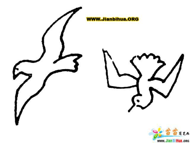 画小鸟的简笔画技法大全9张